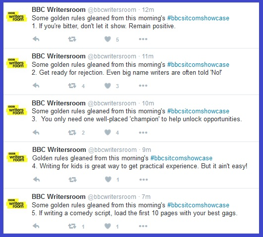 Tips from the BBC Writer's Room